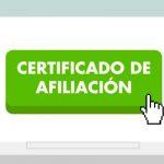Certificado de afiliación AFP