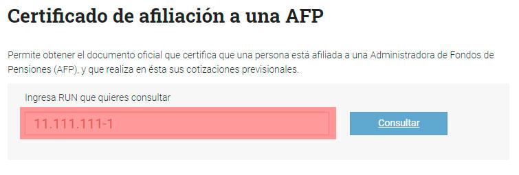 Obtener el certificado de afiliación a una AFP