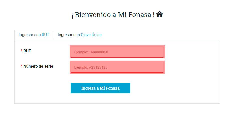 Obtener el certificado de Fonasa Online