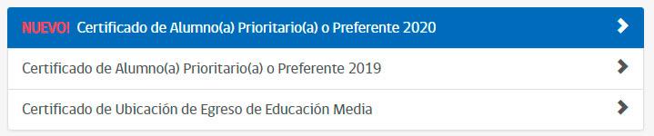 Alumno Prioritario - Obtener certificado