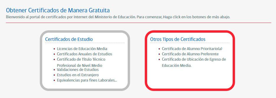 Obtener el certificado de alumno prioritario