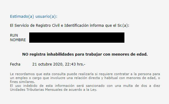 Paso 3 para obtener el certificado de inhabilidad