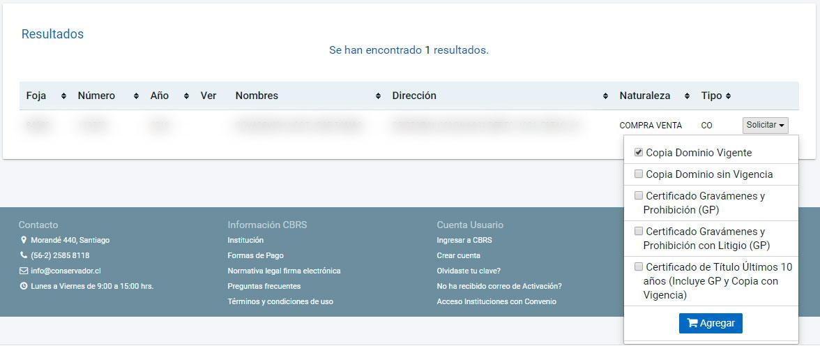 Certificado de dominio vigente paso 2